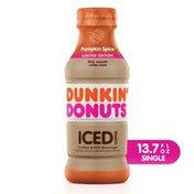 Dunkin' Donuts Pumpkin Spice Iced Coffee Bottle