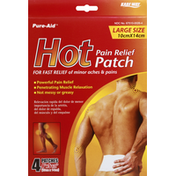 Pure Aid Pain Relief Hot Patch, Large Size