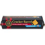 Cracker Barrel Extra Sharp Yellow Cheddar Cheese with 2% Milk