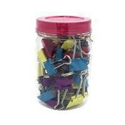 Ubrands Large Mason Jar of Wood Binder Clips With Patterns