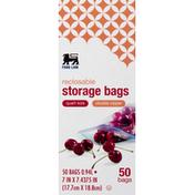 Food Lion Storage Bags, Double Zipper, Reclosable, Quart Size