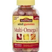 Nature Made Multi + Omega-3, Adult Gummies, Strawberry, Lemon & Orange, Value Size