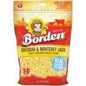 Borden Finely Shredded Cheddar & Monterey Jack Cheese Blend