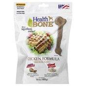 Health Bone Dog Treat, Medium Bones, Chicken Formula