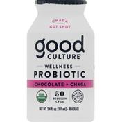 Good Culture Probiotic Beverage, Wellness, Organic, Chocolate + Chaga