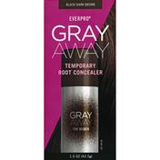 GRAY AWAY Root Concealer, Temporary, Black/Dark Brown, for Women