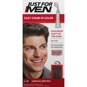 Just For Men Easy Comb-In Color, Medium Brown A-35