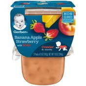 Gerber 3F Banana Apple Strawberry with Lil' Bits Gerber 3rd Foods Lil' Bits Banana Apple Strawberry Baby Food