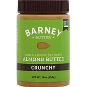 Barney Butter Almond Butter, Crunchy, Gluten Free, Jar