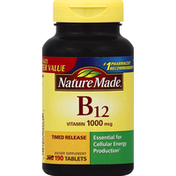 Nature Made Vitamin B12, 1000 mcg, Timed Release Tablets