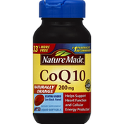 Nature Made CoQ10, 200 mg, Liquid Softgels, Naturally Orange
