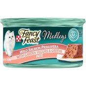 Purely Fancy Feast Elegant Medleys Wild Salmon Primavera With Garden Veggies & Greens Pate Wet Cat Food