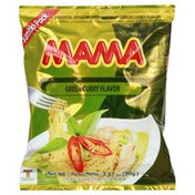 Mama Instant Noodles, Green Curry Flavor, Oriental Style, Jumbo Pack