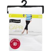 No nonsense Legging, Cotton Capri, White, Medium
