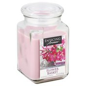 Enticing Aromas Candle, Flower Basket