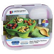 Portion Perfect Meal Kit, Light, Collapsible Silicone