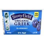 Stonyfield Organic Yogurt, Greek, Nonfat, Organic, Blueberry