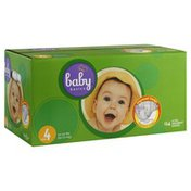 Baby Basics Diapers, Ultra Absorbent, Size 4 (22-37 lbs)