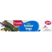 Krasdale Freezer Bags, Slider, Gallon Size
