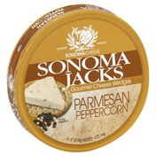 Sonoma Jack Cheese Wedges, Gourmet, Parmesan Peppercorn