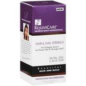 Rejuvicare Hair & Nail Formula With Biotin Dietary Supplement, 500 Mcg