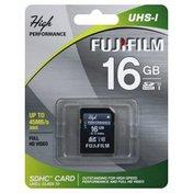 Fujifilm SDHC Card, UHS-I, 16 gb