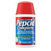 Pepcid Complete Acid Reducer + Antacid Chewable Tablets, Mint