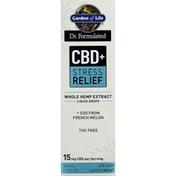 Garden of Life Whole Hemp Extract, CBD + Stress Relief, Liquid Drops