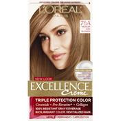 Excellence Permanent Color, Triple Protection, Medium Ash Blonde 7-1/2A