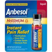Anbesol Oral Pain Relief Medication