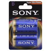 Sony Batteries, Alkaline, D