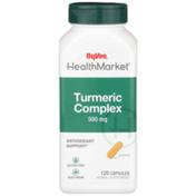 Hy-Vee Healthmarket, Turmeric Complex 500 Mg Antioxidant Support Herbal Supplement Vegetarian Capsules