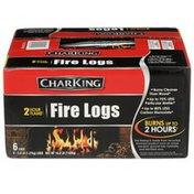 CharKing 2 Hour Flame Fire Logs