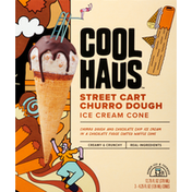 Coolhaus Ice Cream Cone, Street Cart Churro Dough, 3 Pack