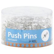 For Keeps Push Pins, 250 Pack, Tub