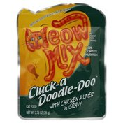Meow Mix Cat Food, Cluck-a Doodle-Doo with Chicken & Liver in Gravy