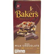 Baker'S Rich Milk Chocolate Premium Baking Bar with 39% Cacao