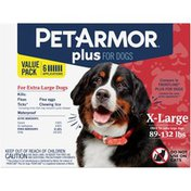PetArmor Plus For Extra Large Dogs 89-132 Pounds Pet Insect Treatment