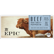 Epic Beef Sea Salt and Pepper Protein Bar, Keto Consumer Friendly, 12 Count