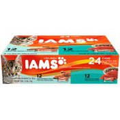 IAMS 12 Filets with Salmon in Sauce/12 Filets with Tuna in Sauce Variety Pack Cat Food
