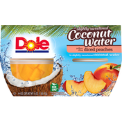 Dole Yellow Cling Diced Peaches in Slightly Sweetened Coconut Water