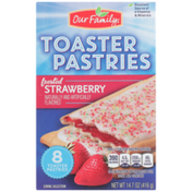 Our Family Frosted Strawberry Toaster Pastries