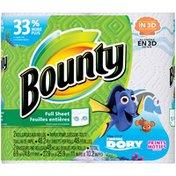 Bounty Paper Towels, Finding Dory Print, 2 Big Roll = 33% More Sheets Towels/Napkins