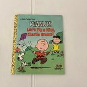 Golden Books Let's Fly a Kite Charlie Brown!
