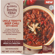 Blount's Family Kitchen Beef Chili with Beans, Uncle Teddy's
