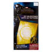 Marvel Black Panther Valentines with Tattoos