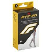 3M Futuro Anti-Embolism Stocking, Thigh Length, Closed Toe White Medium, Short