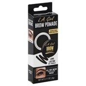 L.A. Colors Brow Pomade, Smudge-Proof, Water-Resistant, Soft Black GBP366