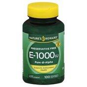 Nature's Reward Vitamin E, 1000 IU, Quick Release Softgels