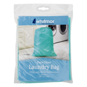 Whitmor Dura-Clean Laundry Bag Turquoise 24x36 in